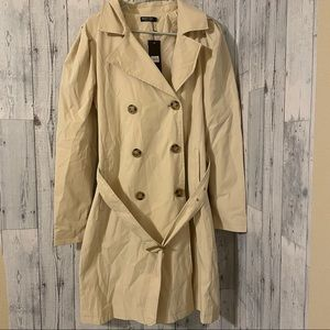 Nasty Gal - puff sleeve trench coat